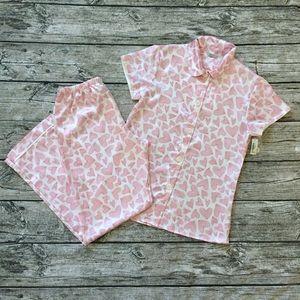 Adonna Pink Sweetheart 2-Piece Pajamas